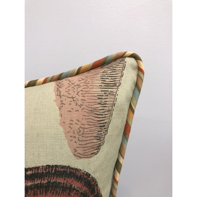 Ecru Specimen Sea Shell Print Decorative Throw Pillows - a Pair For Sale - Image 8 of 9
