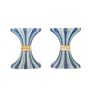 Pair of Madeleine Castaing Pedestals For Sale