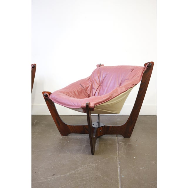 Hjellegjerde Møbler Mid Century Modern Odd Knutsen Luna Chairs- a Pair For Sale - Image 4 of 11