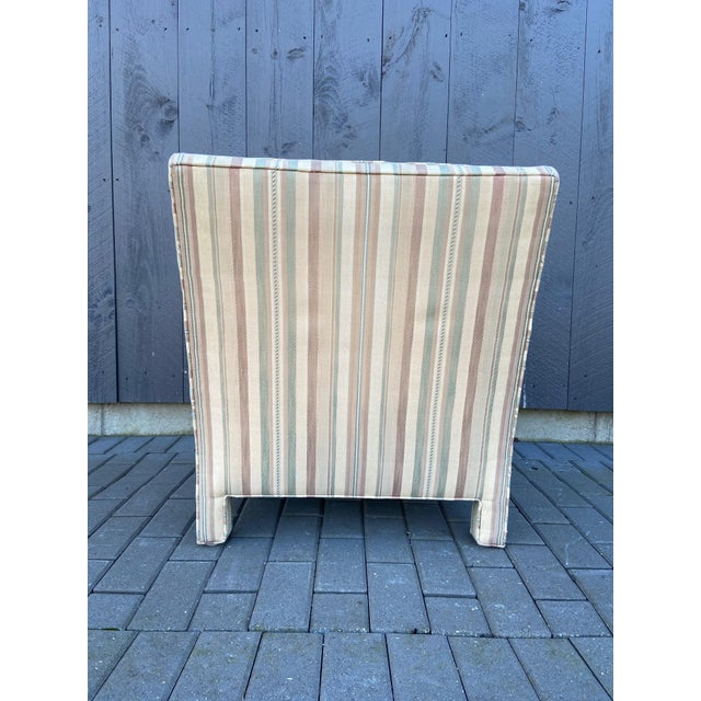 Mid 20th Century Milo Baughman Style Parsons Chair For Sale - Image 5 of 13