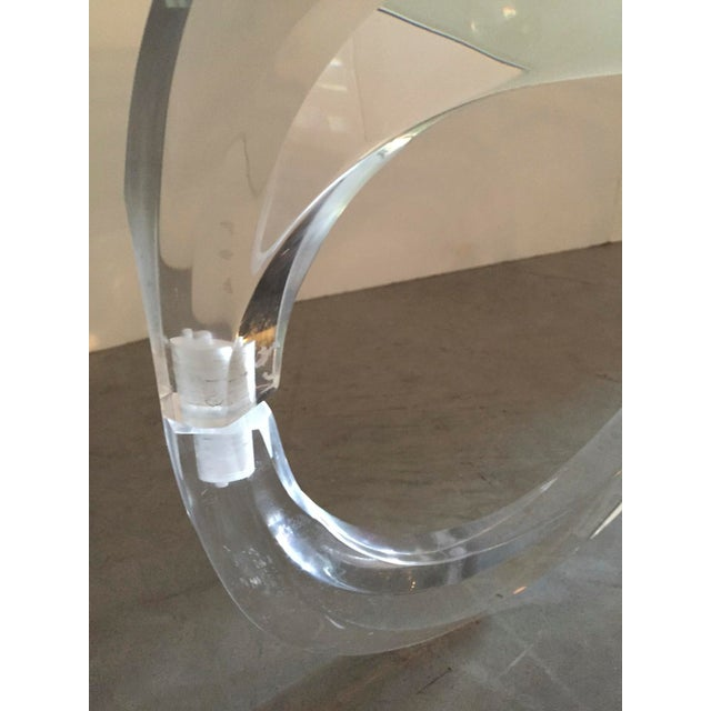 Modernist Sculptural Lucite Base and Glass-Top Coffee Table - Image 6 of 6