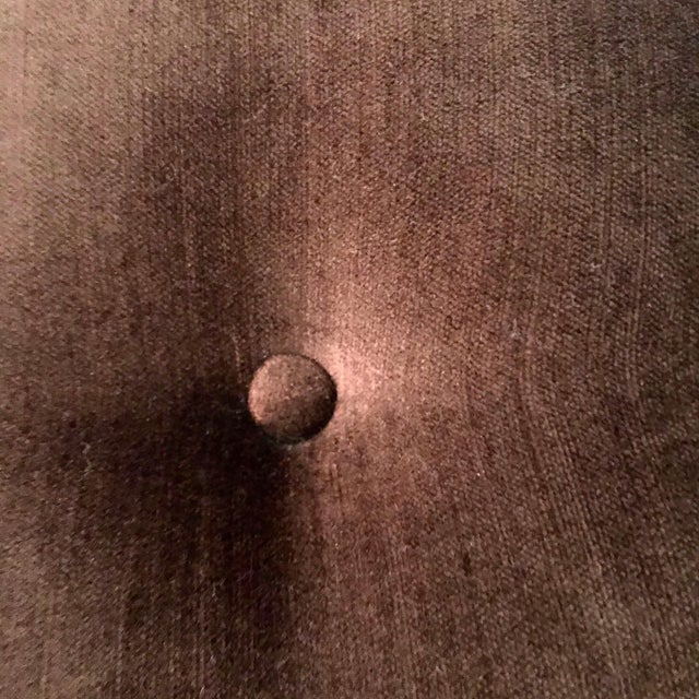Brown Leopard & Brown Velvet Upholstered X Bench For Sale - Image 8 of 9