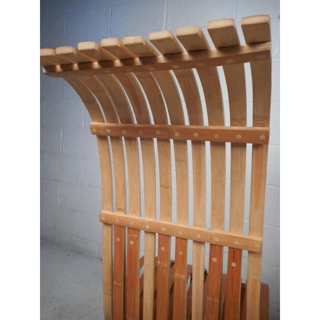 Pair of Vintage Wood-Slat Chairs For Sale - Image 10 of 11