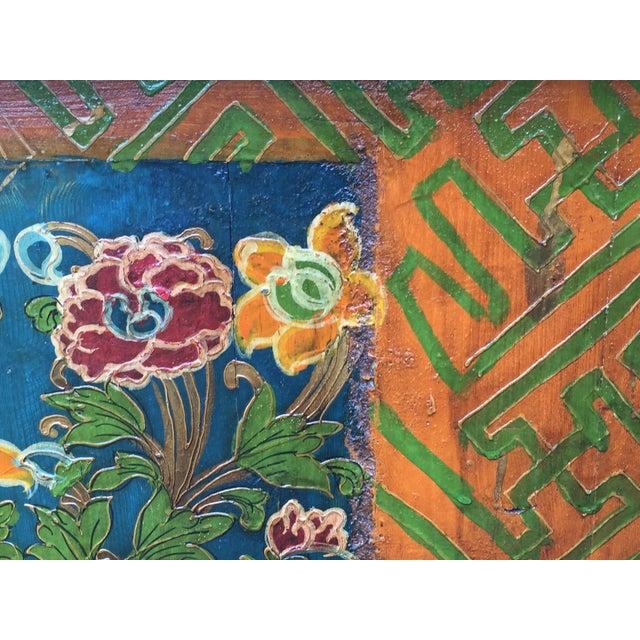 Folk Art Hand Made Dragon Tibetan Chest - Image 8 of 11