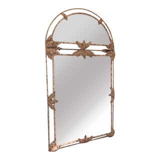 1980s John Richard Hand Painted Large Floor or Wall Mirror For Sale