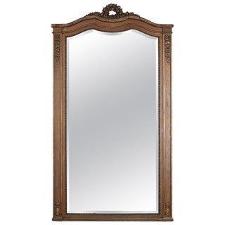 19th Century French Louis XVI Neoclassical Style Floor Mirror For Sale