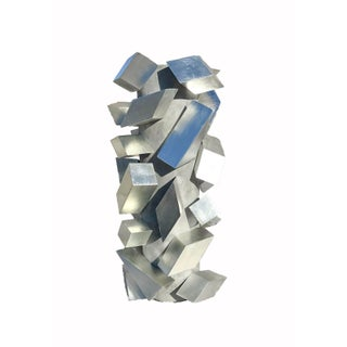Cubist Silver Leaf Sculpture Preview