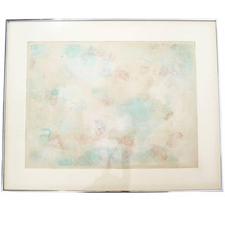 Mid-Century Modern Framed Abstract Litho Robert Natkin Dated 1970s For Sale