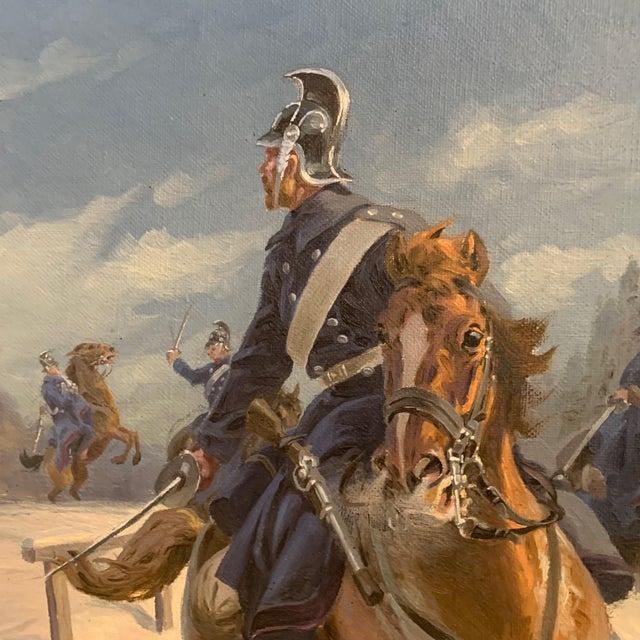 Illustration Karl Hansen Reistrup (1863-1929) Danish Dragoons For Sale - Image 3 of 12