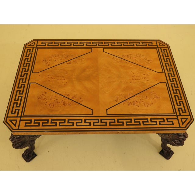 Brown Baker Stately Homes Russian Empire Lion Head Coffee Table For Sale - Image 8 of 13
