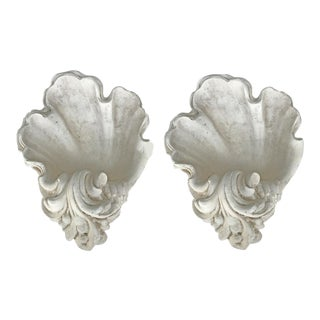 Superb Serge Roch St.1950's plaster Sconces. Pair