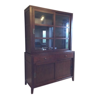 Crate & Barrel Dining Room Hutch For Sale