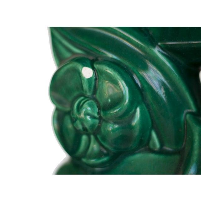 Art Deco Art Deco Green Ceramic Table Lamp For Sale - Image 3 of 3