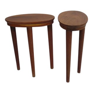 Exceptional Pair of Colonial Side Tables / Consoles, French Indochina, 1930