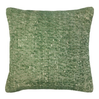 "Vintage Verdigris Carpet Pillow | 18"" For Sale"