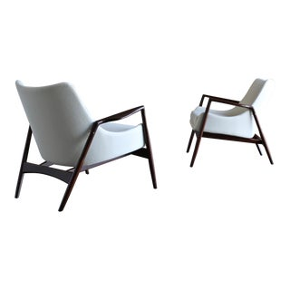 Ib Kofod-Larsen Lounge Chairs for Selig Circa 1955 - a Pair For Sale