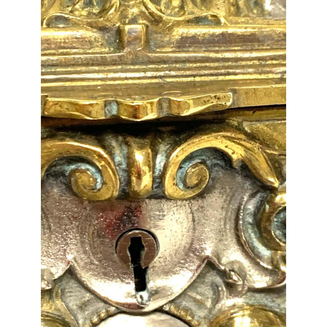 Silvered Bronze and Ormolu Jewelry/Table Box For Sale - Image 4 of 12