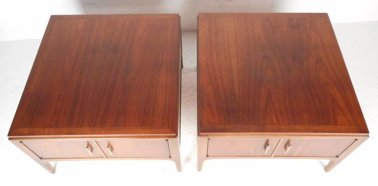 Lane Furniture Mid Century Low End Tables   A Pair   Image 2 Of 8