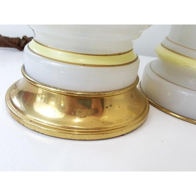 Warren Kessler Opaline Glass Lamps - Set of 3 For Sale - Image 5 of 10
