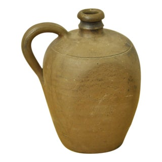 Vintage French Stoneware Jug For Sale
