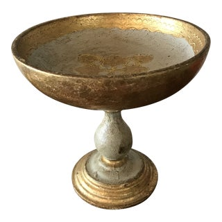 1950's Italian Florentine Gilt Compote For Sale