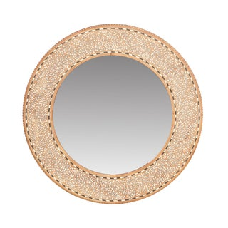 Foliage Bone Inlay Mirror For Sale