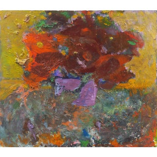 'Still Life of Poppies', Mid-Century, American School Expressionist Floral Oil For Sale