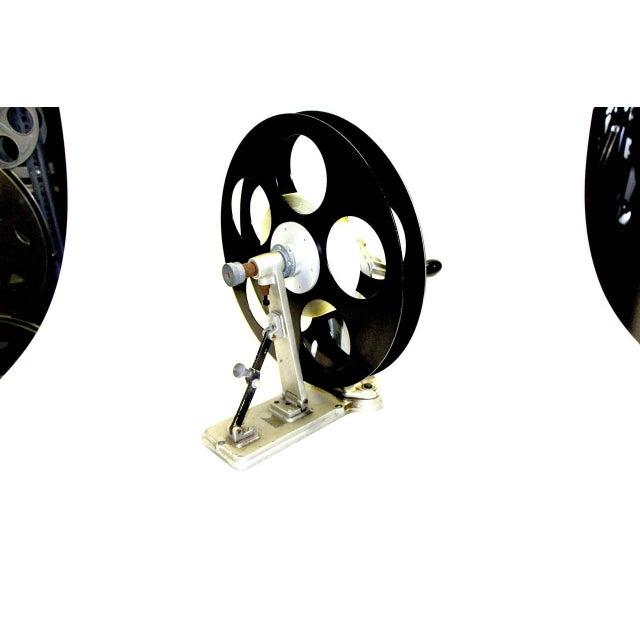 Metal Vintage Motion Picture Film Laboratory Flange Rewinder. Circa 1930s. Display As Sculpture. For Sale - Image 7 of 7