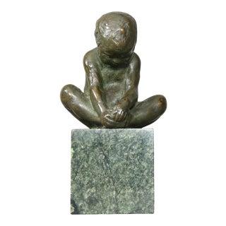 Bronze Sculpture of a Child