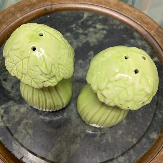 Mid-Century Bok Choy Cabbage Salt and Pepper Shakers For Sale In Atlanta - Image 6 of 10