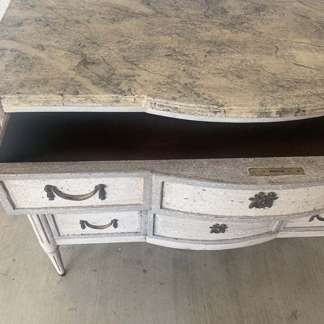 Paint 20th Century French Painted Commode For Sale - Image 7 of 13