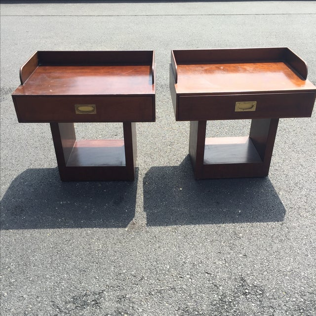 Directional Mid-Century Nightstands - A Pair - Image 2 of 11