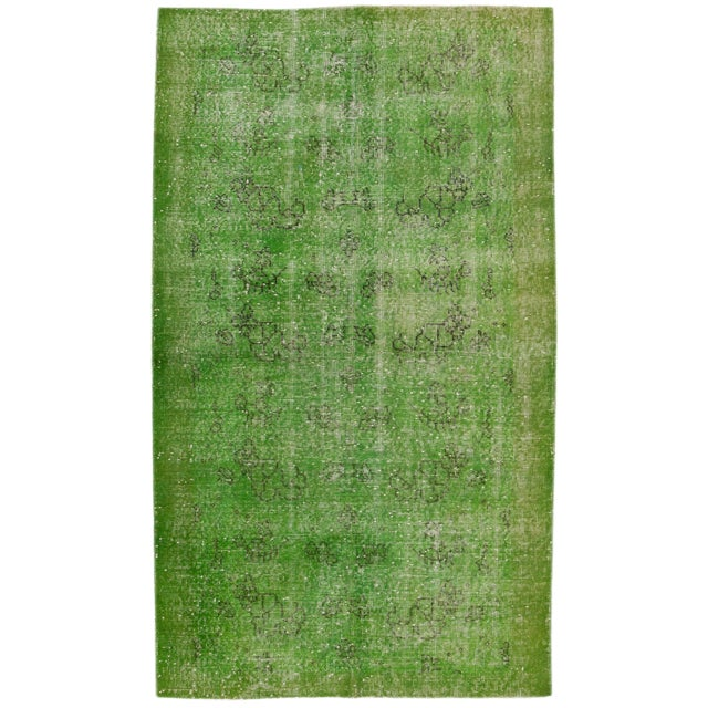 """Vintage Overdyed Rug, 3'10"""" X 6'9"""" For Sale"""