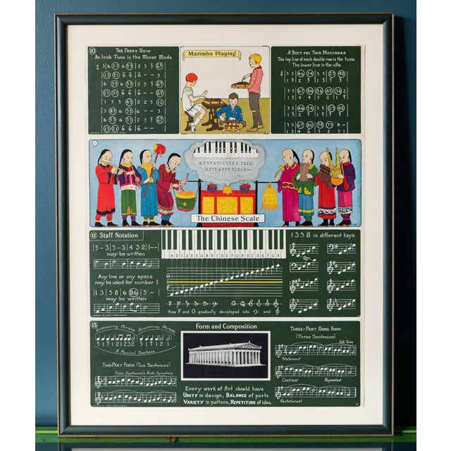 Antique Framed 1920's Music Lesson - Image 2 of 6