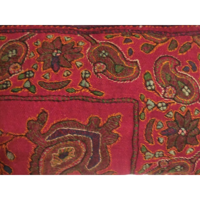 Hand Embroidery Antique Pillows - A Pair - Image 6 of 10