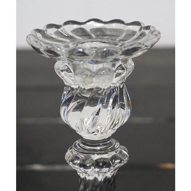 """Baccarat """"Bambous"""" Swirl Candlestick For Sale In Palm Springs - Image 6 of 8"""