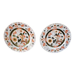 English Ironstone China Plates - A Pair