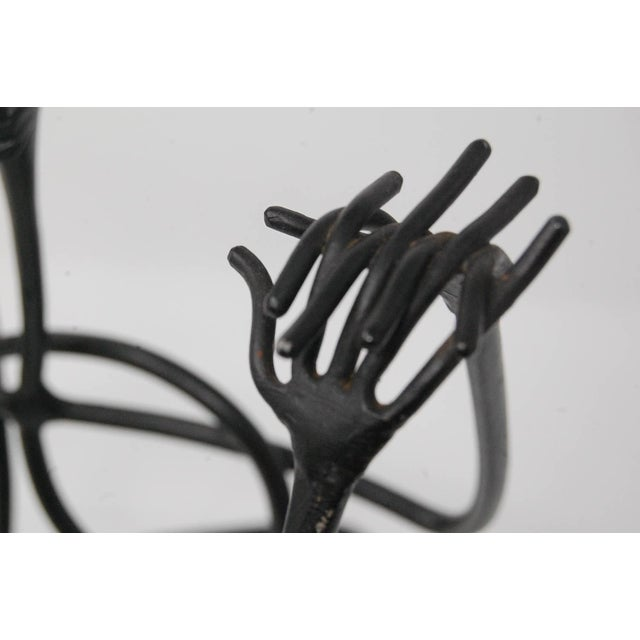 """Unusual modernist sculpture signed """"M.P. Jr Apr '55"""". This sculpture is very well done, and clearly not executed by an..."""