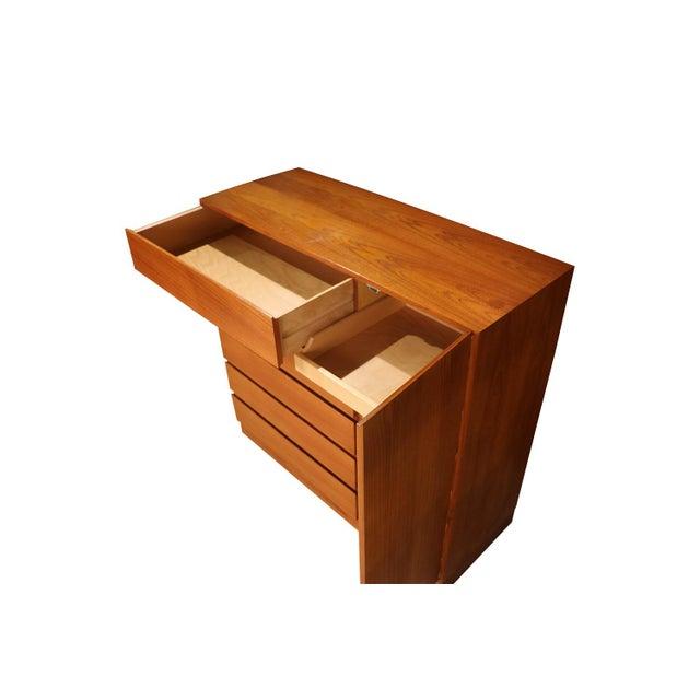 Vinde Mobelfabrik Danish Modern Teak Storage Gents Chest Dresser For Sale - Image 4 of 10