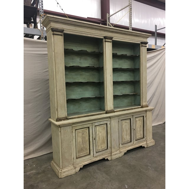 Italian 19th Century Italian Tuscan Painted Bookcase Display Cabinet For Sale - Image 3 of 13
