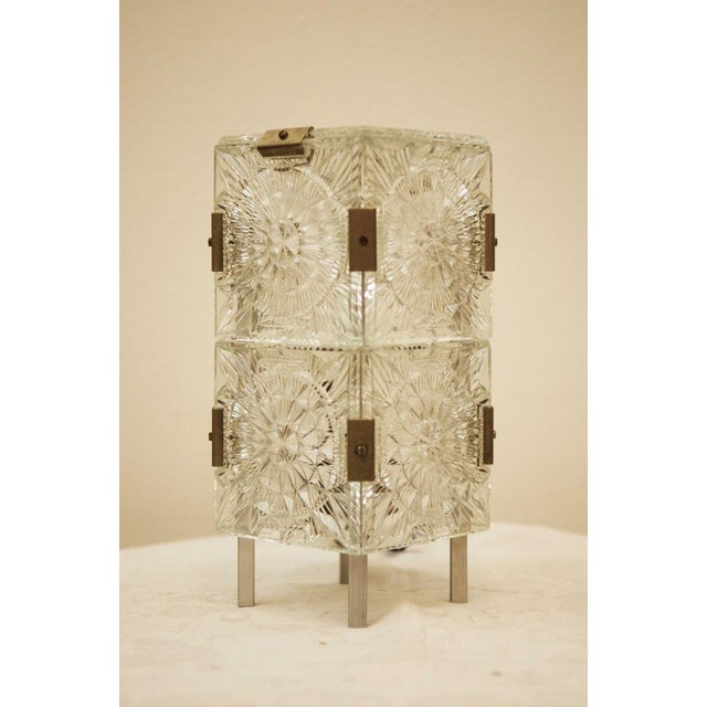 Mid-Century Modern Mid Century Pressed Table Lamp For Sale - Image 3 of 9
