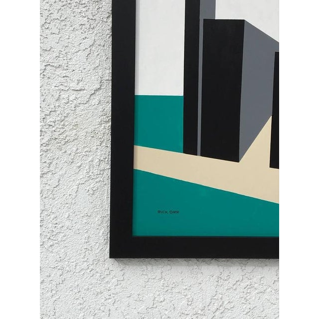 2010s Original Enamel on Masonite Abstract Painting by Rick Orr For Sale - Image 5 of 6