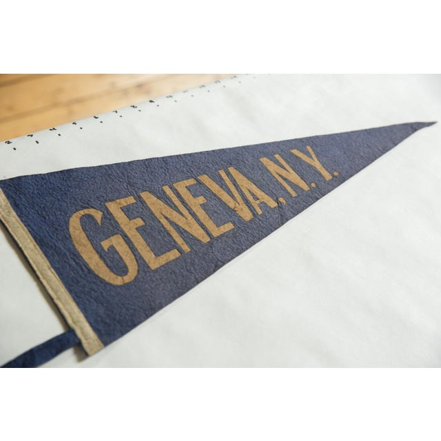 :: Geneva, New York felt flag souvenir banner pennant vintage circa 1940's.