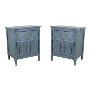 Mid Century Neoclassical Nightstands - A Pair For Sale