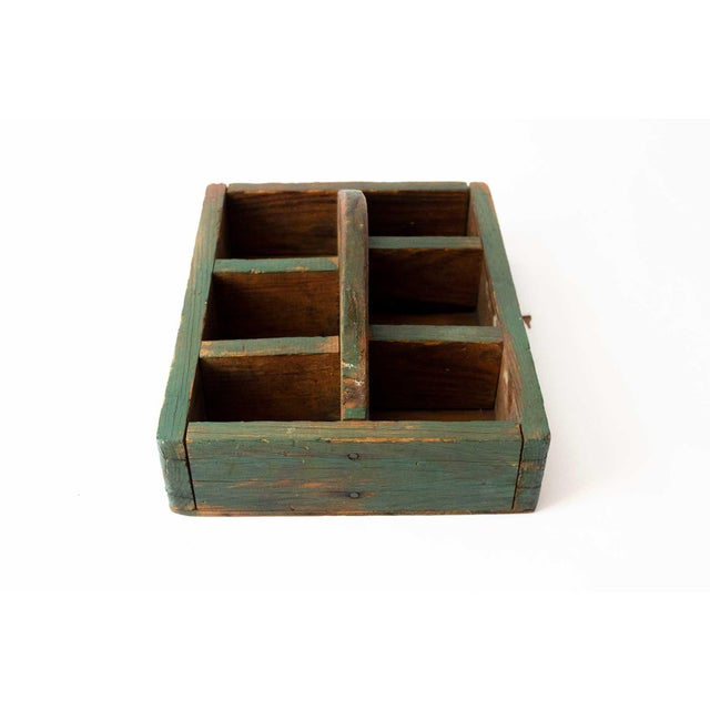 Rustic Forest Green Berry Carrier For Sale - Image 4 of 8