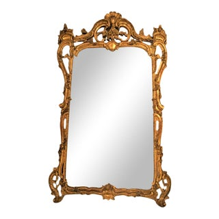 French Louis XV Style Gilt Mirror For Sale