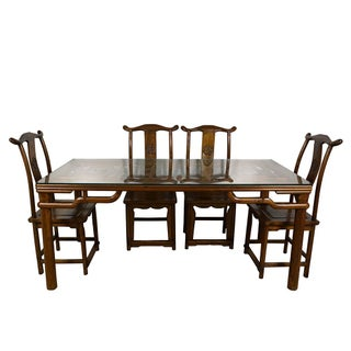 20th Century Chinese Carved Dining Set - 5 Pieces Preview