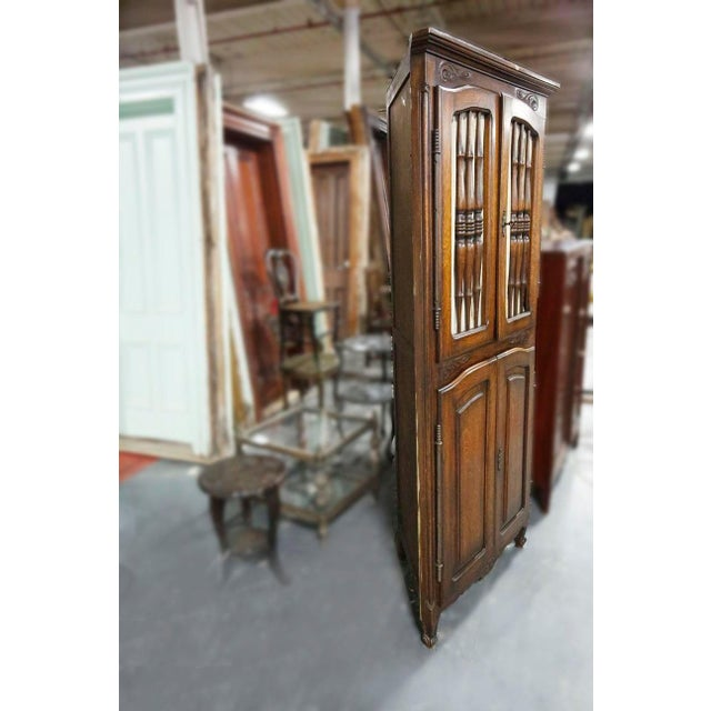 Traditional Late 20th Century Brown Wooden Corner Cabinet For Sale - Image 3 of 4