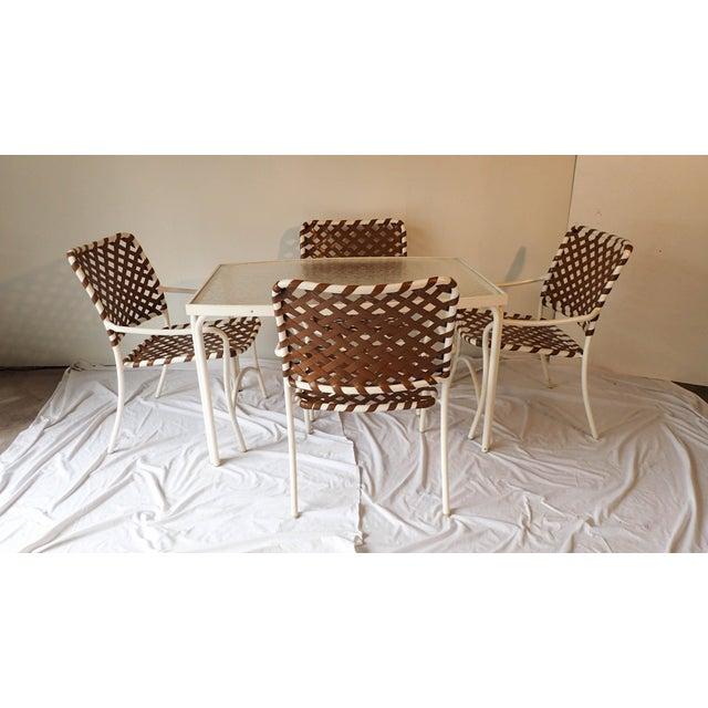 Tropitone Brown & White Outdoor Patio Set - Set of 5 - Image 2 of 11