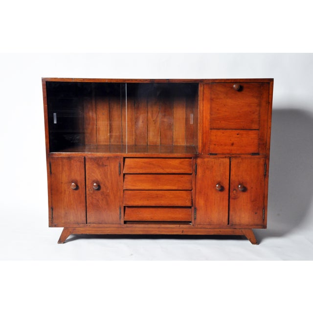 British Colonial British Colonial Teakwood and Bar Cabinet For Sale - Image 3 of 11
